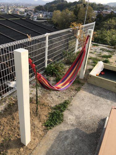 自宅の庭でハンモックを作ってみた【大人も楽しめます】
